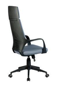 Кресло RCH 8989 черный пластик, серая ткань (4)