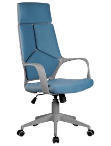 Кресло RCH 8989 серый пластик, синяя ткань (1)