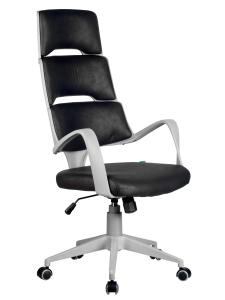 Кресло RCH Sakura серый пластик, ткань фьюжн черный(1)